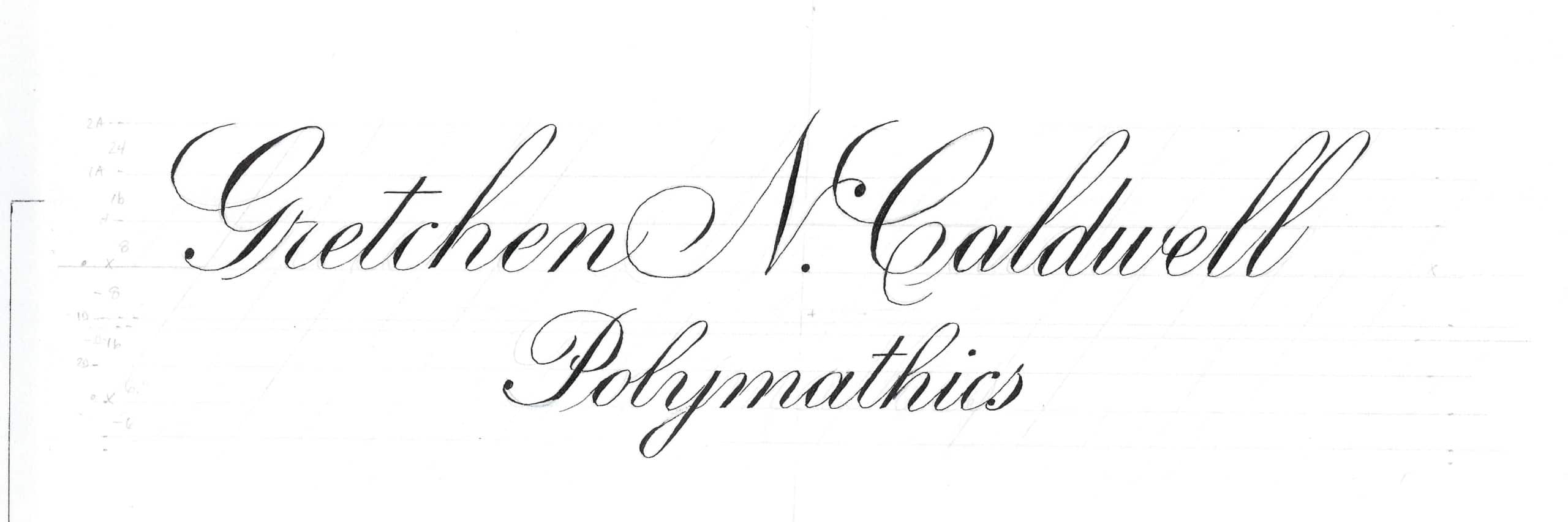 Gretchen N. Caldwell - Polymathics - Nameplate Design