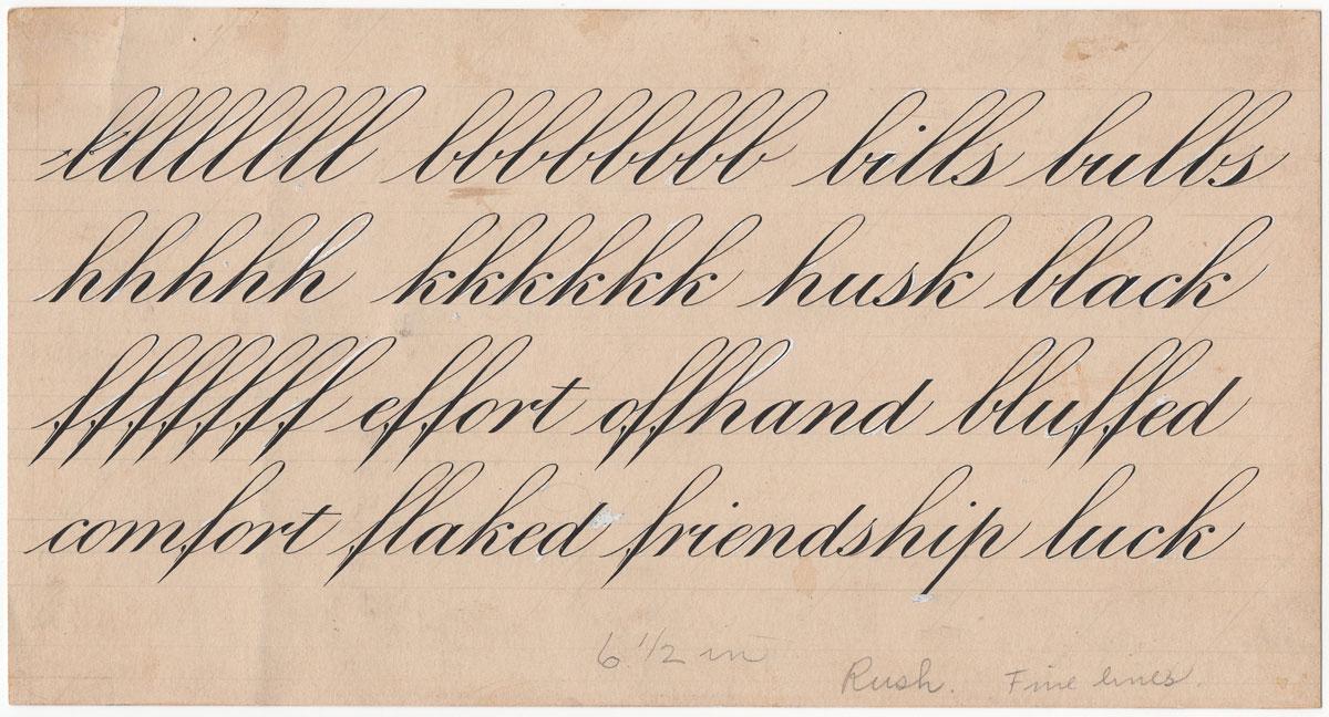 Engrosser's Script Specimen by Earl A. Lupfer, 1937