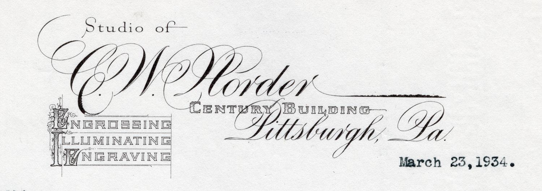 C. W. Norder Penmanship