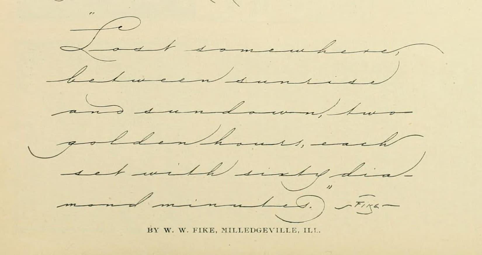 W. W. Fike Penmanship