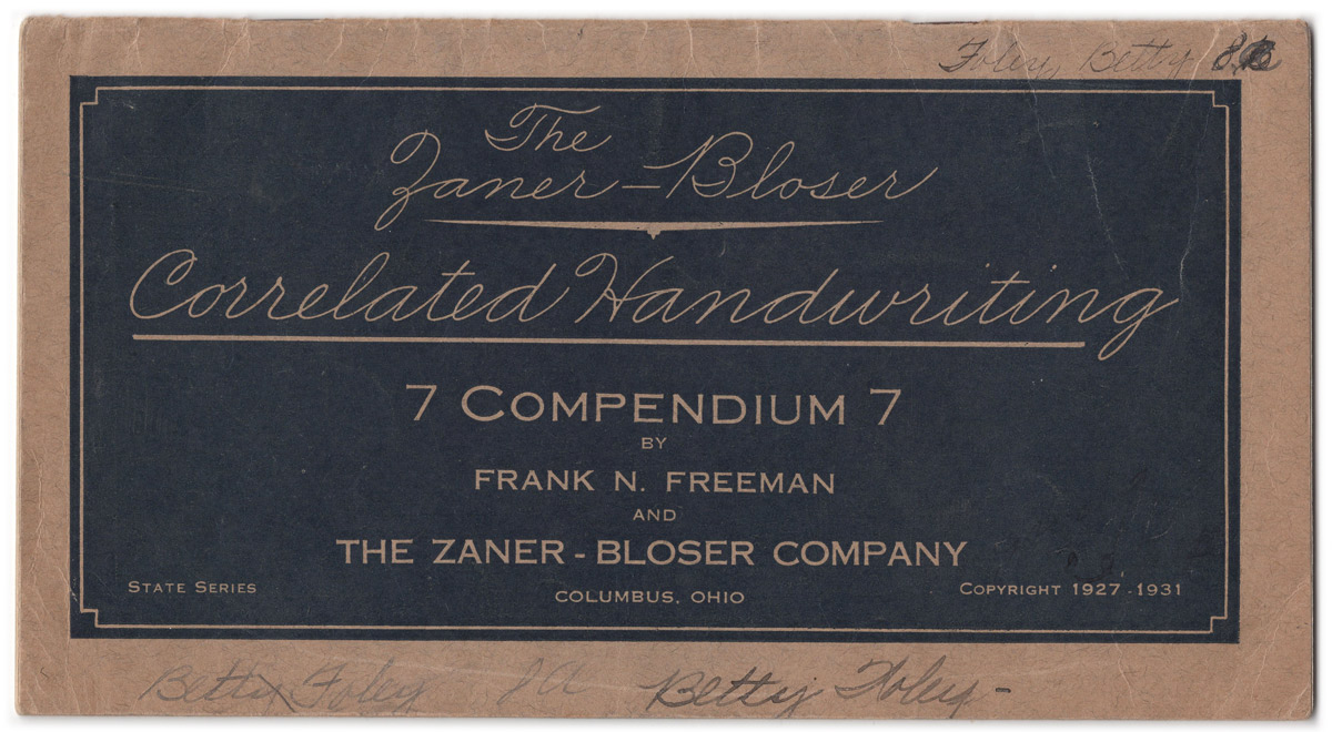 Masgrimes Correlated Handwriting, Compendium 7, American Penmanship