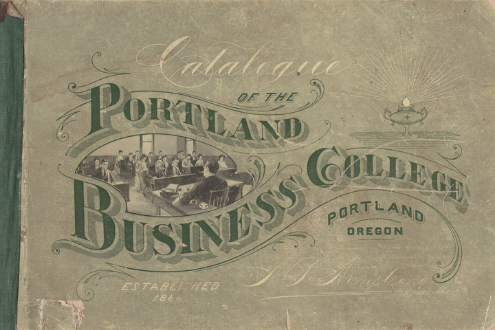Masgrimes | Portland Business College - penmanship, lettering, and business college catalogue