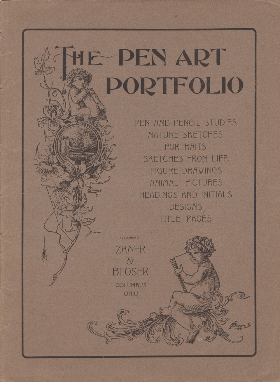 Masgrimes The Pen Art Portfolio, Zaner-Bloser, 1910
